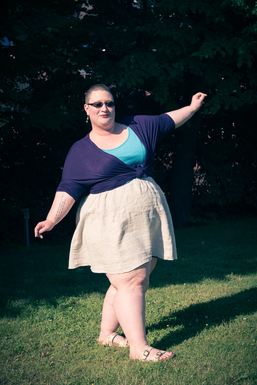 Sewaholic Rae linen skirt: my first success!